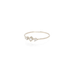 14k prong and princess diamond ring