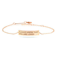 Zoë Chicco 14kt Rose Gold Customizable ID Bracelet with White Diamond