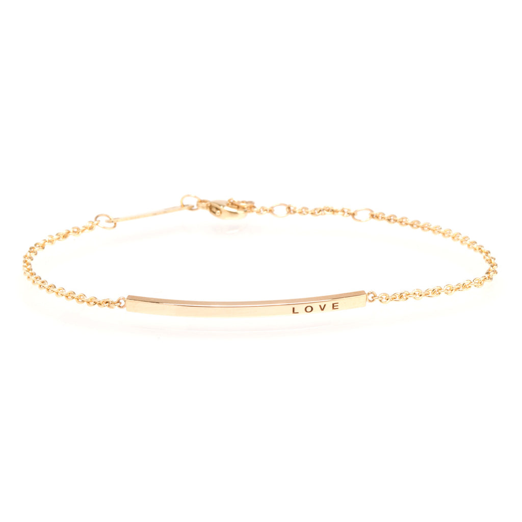 14k thin customizable ID bracelet