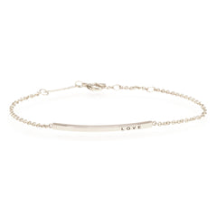 14k gold thin customizable ID bracelet
