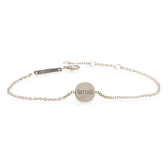 Zoë Chicco 14kt White Gold Engravable Small Disc Bracelet