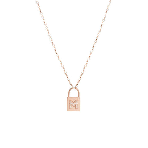 product necklace sterling padlock in zamels silver set