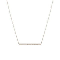 Zoë Chicco 14kt Gold Engraved Thin ID Necklace with White Diamond