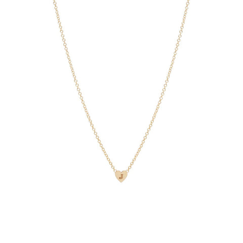 14k initial heart necklace