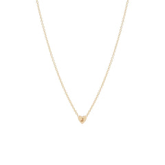 Zoë Chicco 14kt Yellow Gold Initial Heart Necklace
