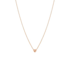 Zoë Chicco 14kt Rose Gold Initial Heart Necklace
