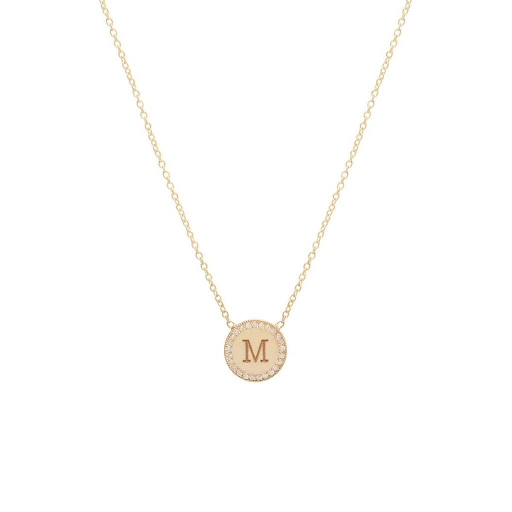 Zoë Chicco Initial Coin Pendant Necklace K6l40