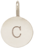 14k small initial disc charm pendant