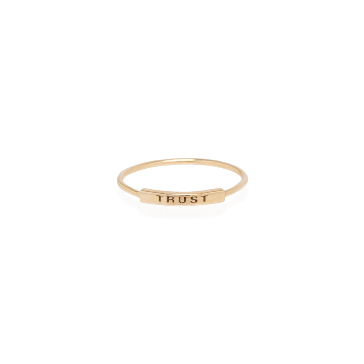 Zoë Chicco 14kt Yellow Gold Engraved Tiny Name Plate Ring