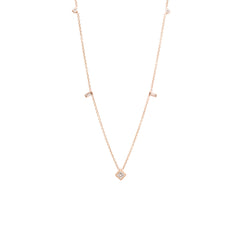 14k Mixed diamond station Necklace