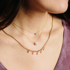 14k large pearl choker necklace