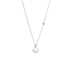 Zoë Chicco 14kt White Gold Large Pearl and Diamond Necklace