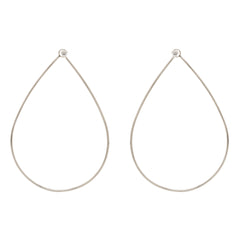 14k prong set diamond front facing large tear hoops