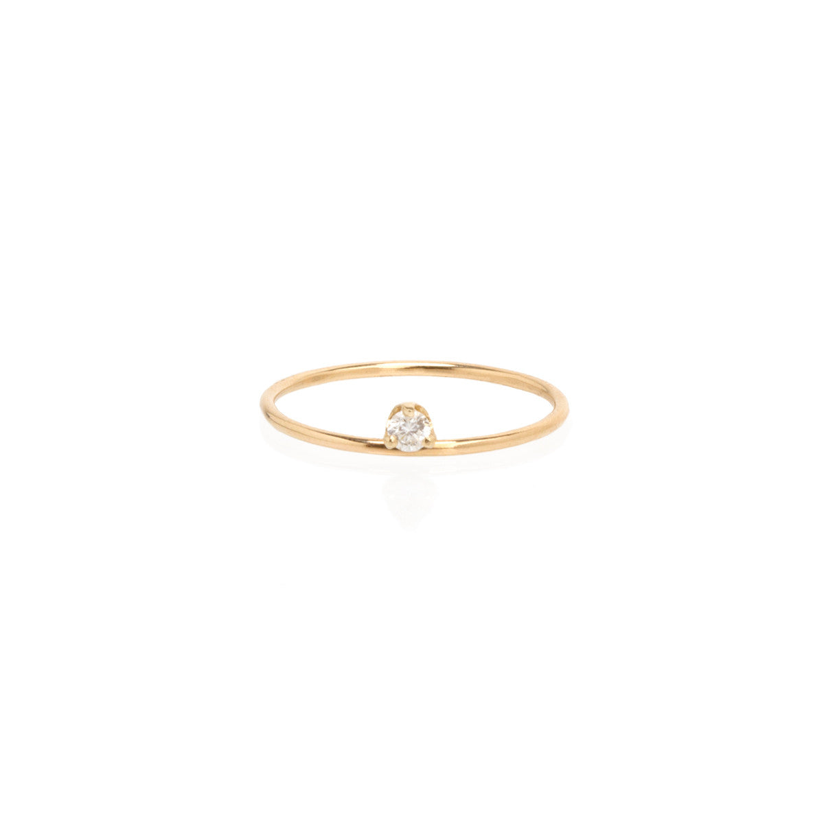 Zoë Chicco 14kt Yellow Gold Floating Diamond Prong Ring