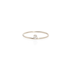 Zoë Chicco 14kt White Gold Floating Diamond Prong Ring