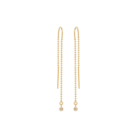 14k bezel diamond bead chain threaders