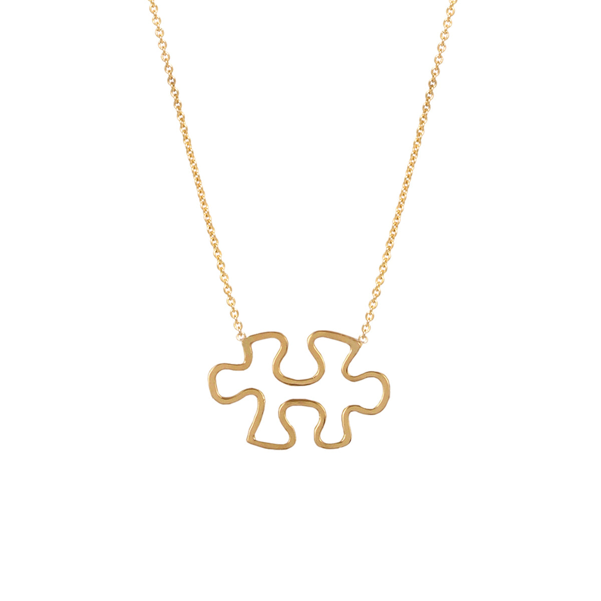 14k gold puzzle necklace