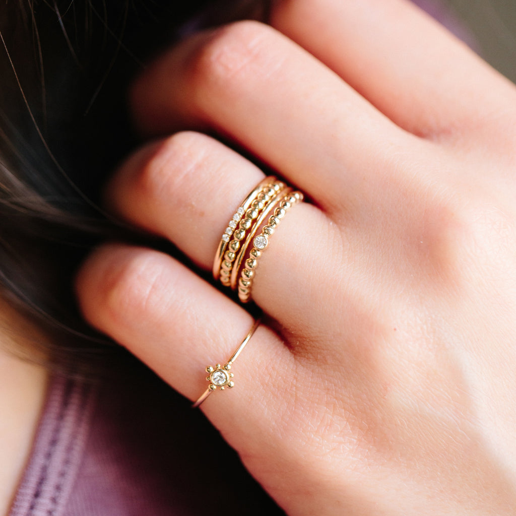 Zoë Chicco 14kt Yellow Gold Bead Ring