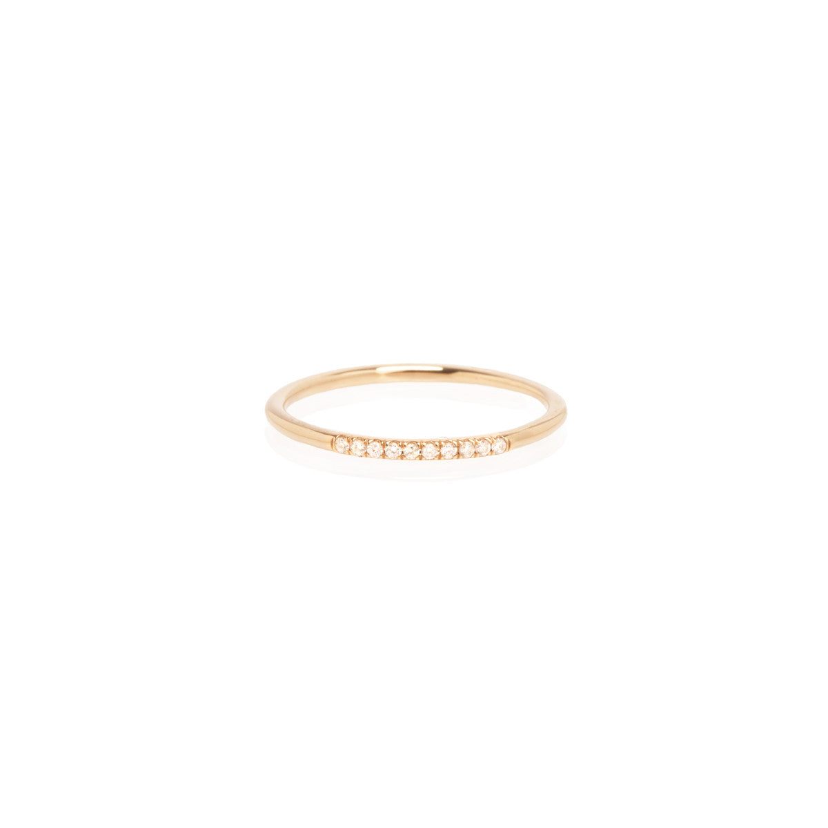 Zoë Chicco 14kt Yellow Gold 10 White Diamond Pave Stacking Band Ring