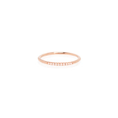 Zoë Chicco 14kt Rose Gold 10 White Diamond Pave Stacking Band Ring