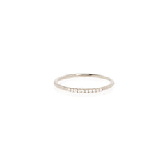Zoë Chicco 14kt White Gold 10 White Diamond Pave Stacking Band Ring