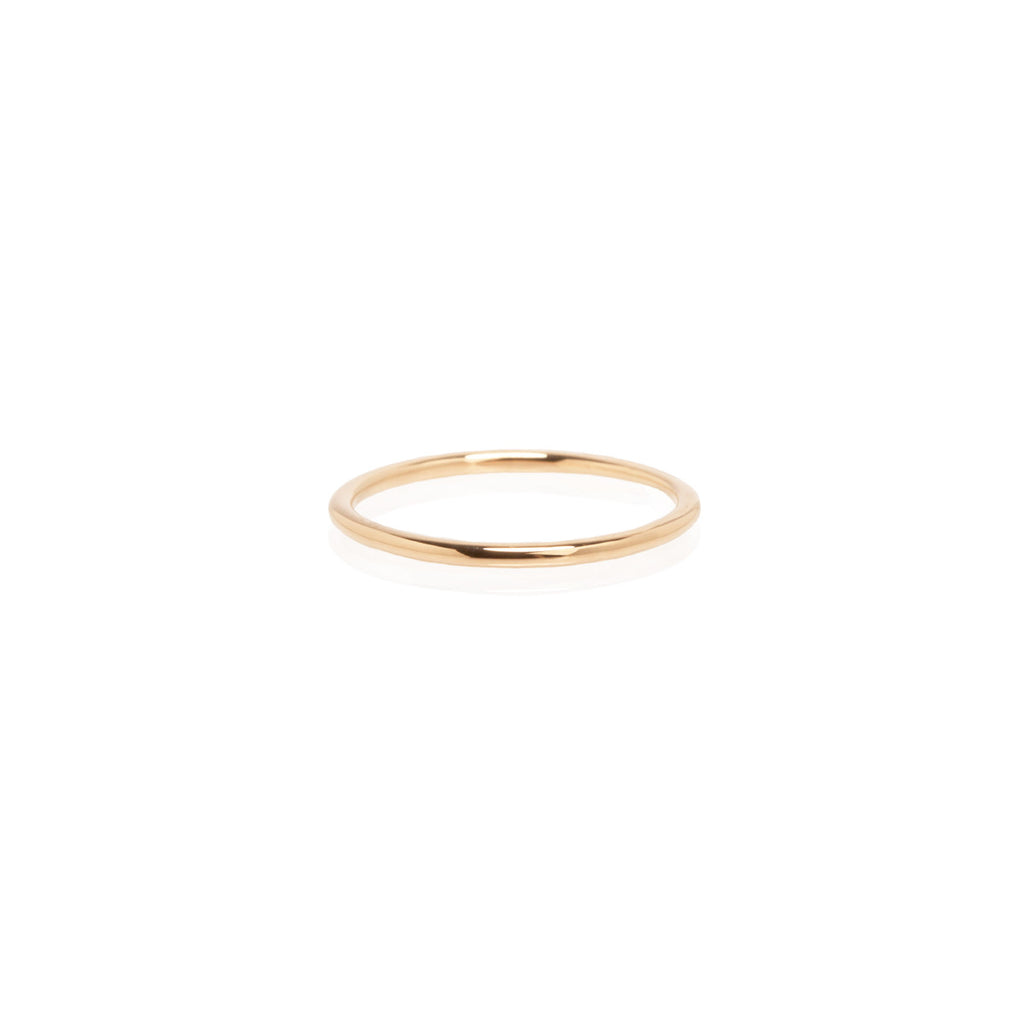 14k medium band ring