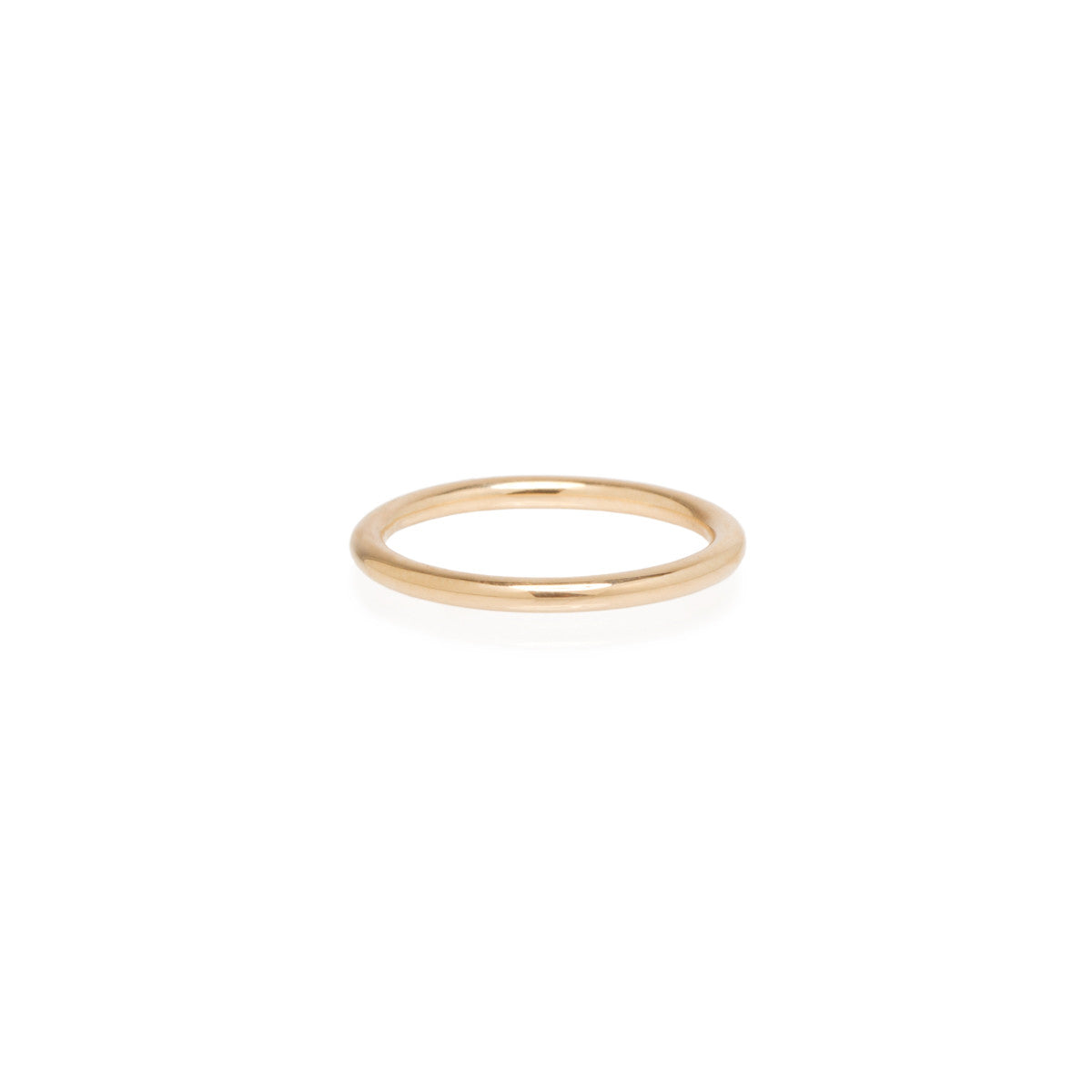 14k thick band ring