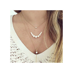 Zoë Chicco 14kt Gold White Diamond Bail Pearl Lariat Necklace