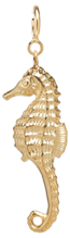14k seahorse charm on spring ring