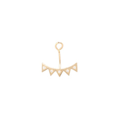 14k diamond eyelash stud charm