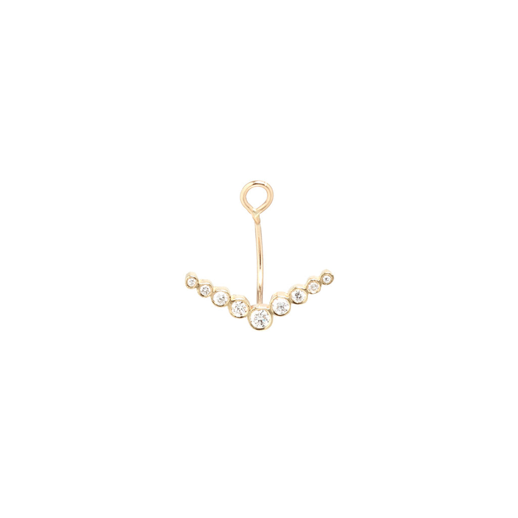 Zoë Chicco 14kt Yellow Gold White Diamond Bezel V Stud Earring Charm