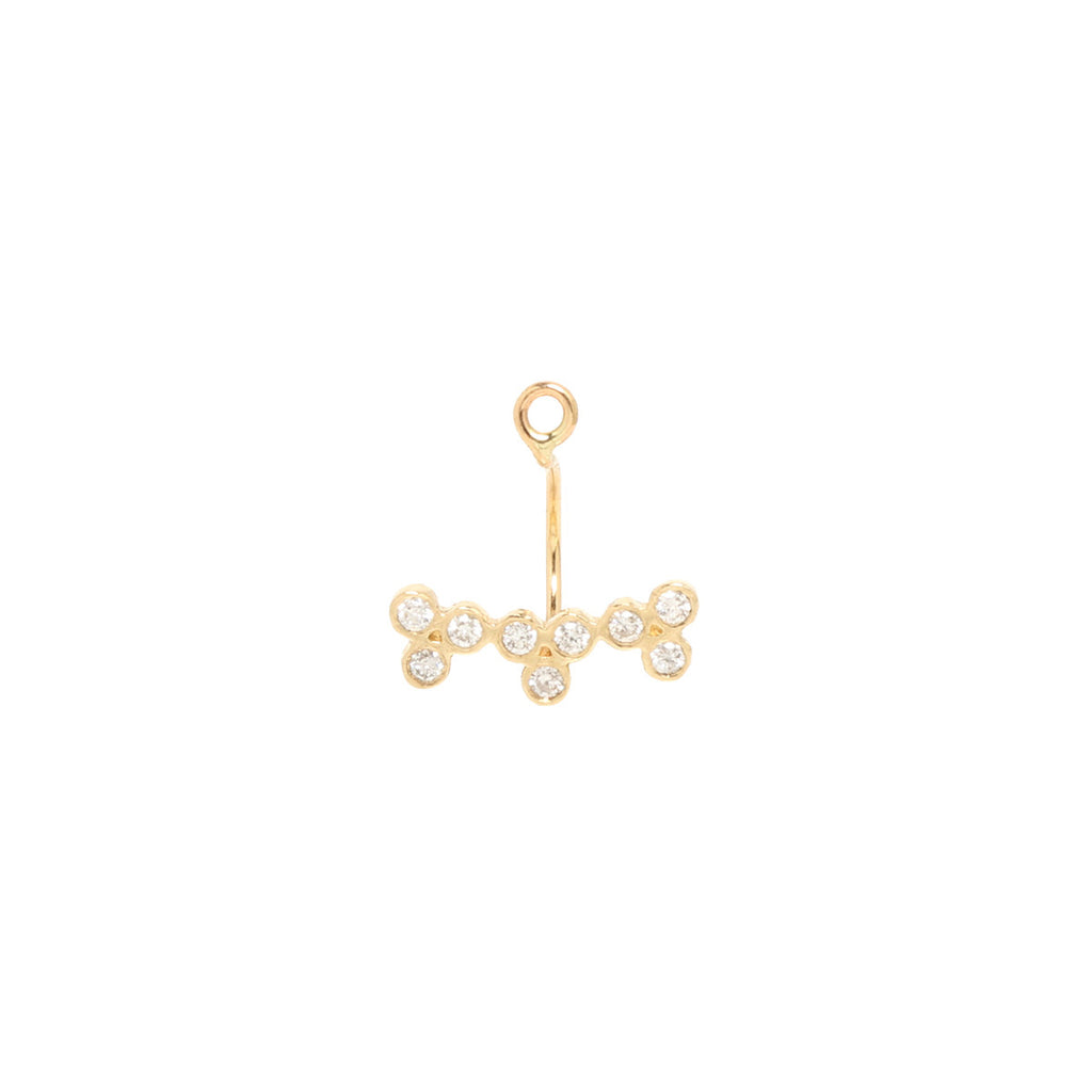 Zoë Chicco 14kt Yellow Gold 3 Diamond Trios Stud Charm