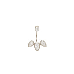 Zoë Chicco 14kt White Gold 3 Pear Diamond Stud Charm With Stud Earring