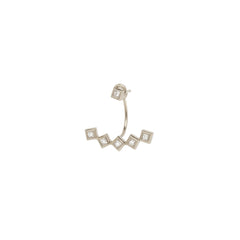 Zoë Chicco 14kt White Gold 5 Princess Cut White Diamond Stud Charm with Stud Earring