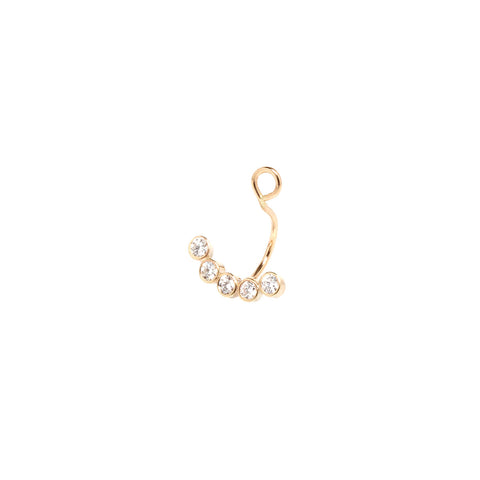 14k five diamond stud charm