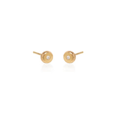 14k small diamond nugget studs