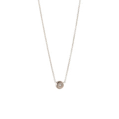 14k small diamond nugget necklace