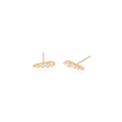 Zoë Chicco 14kt Yellow Gold White Diamond Ice Pick Stud Earrings