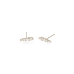 Zoë Chicco 14kt White Gold White Diamond Ice Pick Stud Earrings