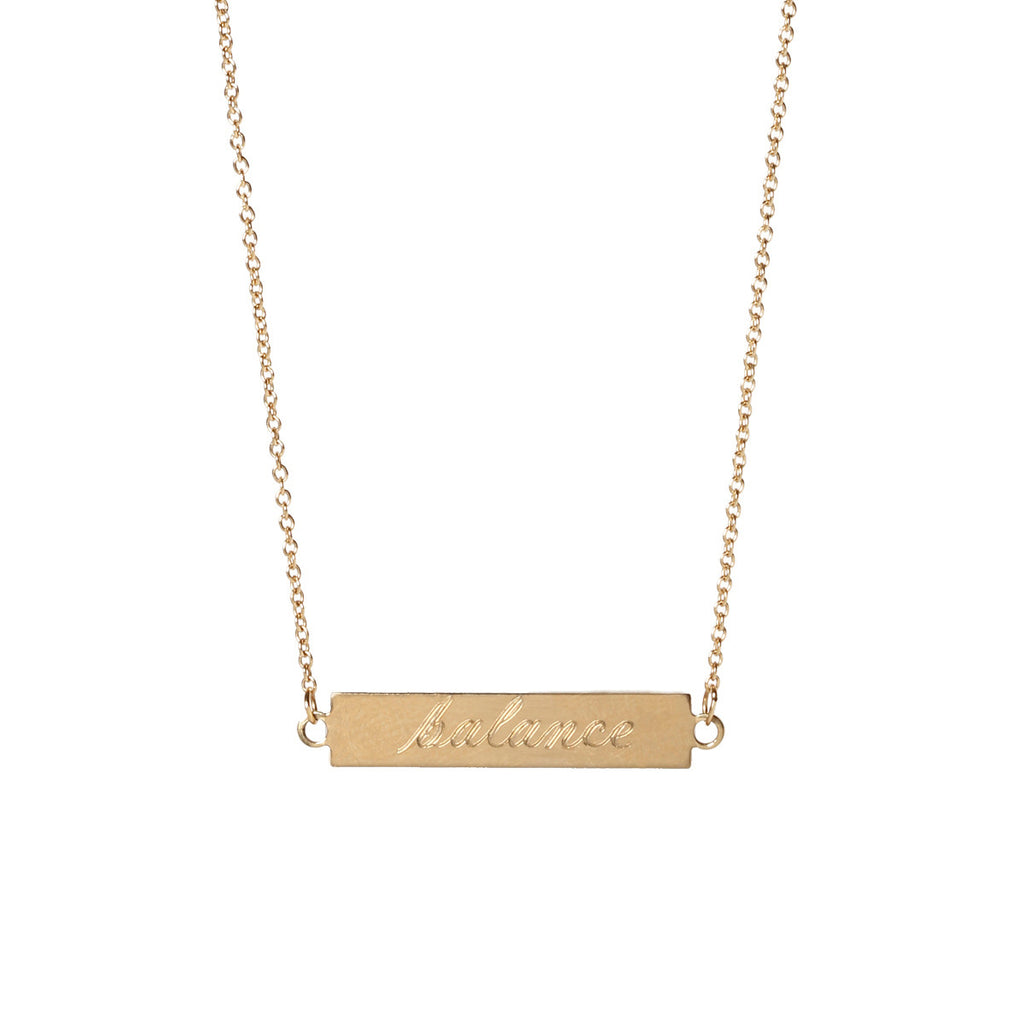 Zoë Chicco 14kt Yellow Gold Double Sided ID necklace