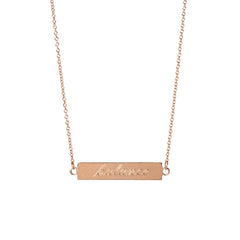 Zoë Chicco 14kt Rose Gold Double Sided ID necklace