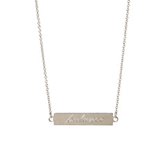 Zoë Chicco 14kt White Gold Double Sided ID necklace