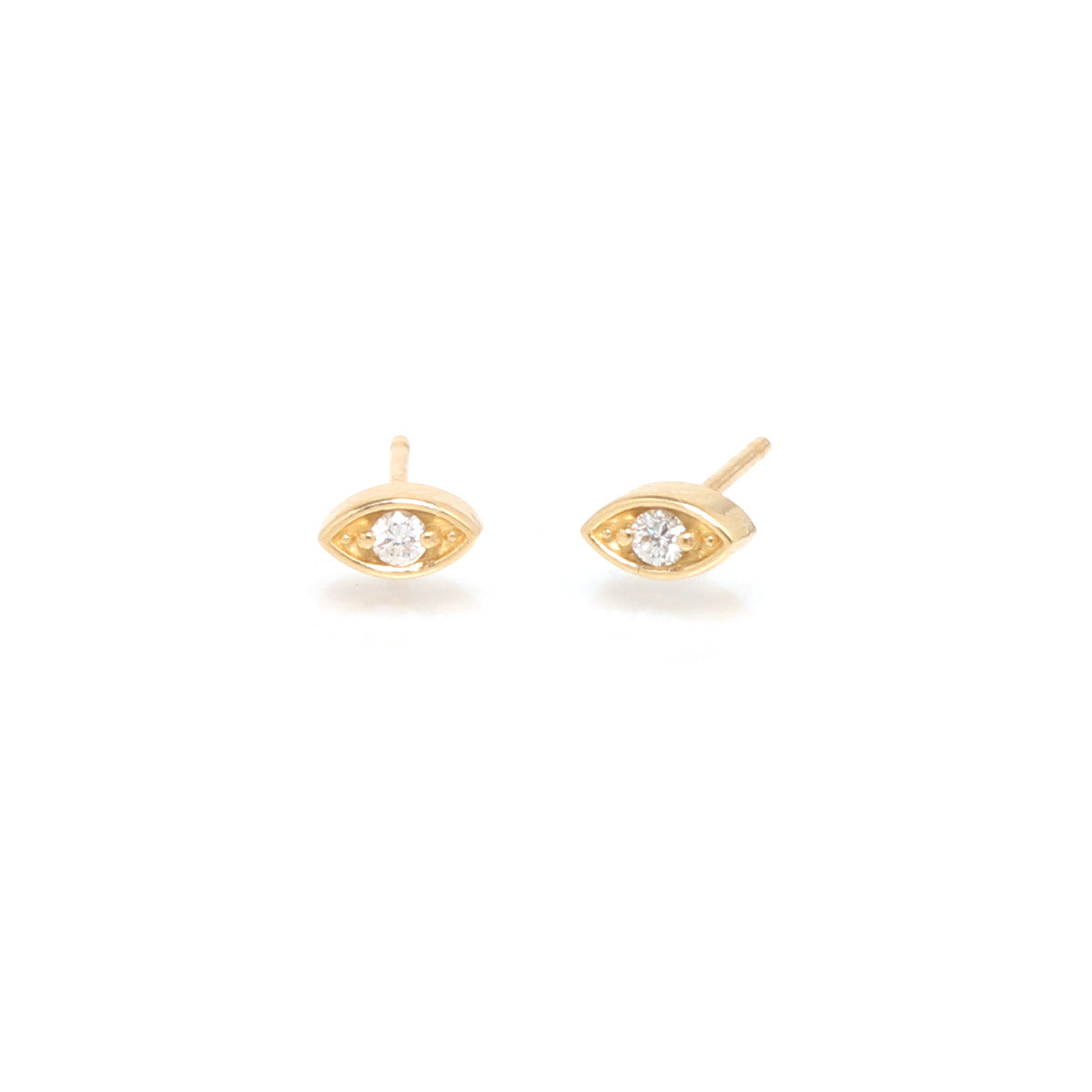 14k small diamond eye studs