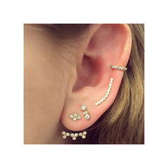 14k tiny bezel set ear shield