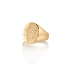 14k large signet ring