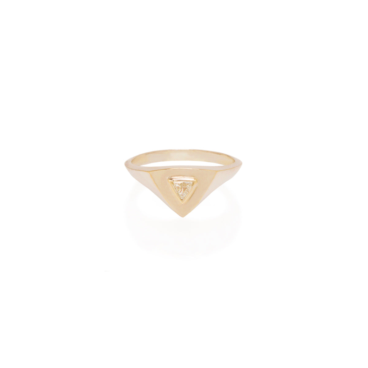 14k trillion diamond signet ring