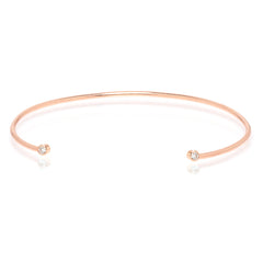 Zoë Chicco 14kt Rose Gold Diamond Bezel Set Open Cuff