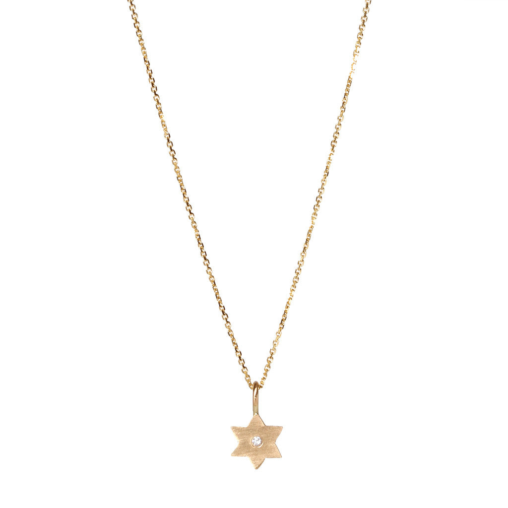 14k Star of David pendant necklace