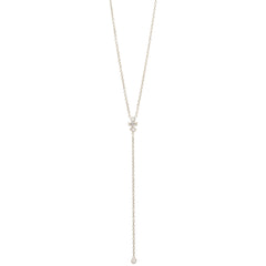 14k mixed diamond lariat necklace