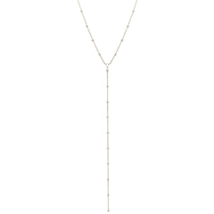 14k satellite chain lariat